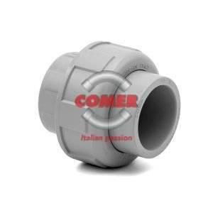C-UN80 Bocchettone con O-Ring - Union with O-Ring in C-PVC COMER S.p.A. made in Italy - COMER S.p.A.