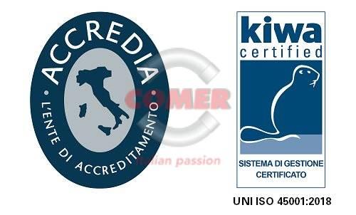 logo-certificazione-KIWA-UNI-EN-450012018 COMER S.p.A. ottiene la certificazione UNI ISO 45001-2018 News